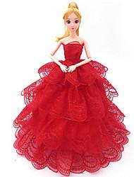 abordables -Vêtements de Poupées Costume Jupe Robe de mariée Plastique Mode Bébé Fille Jouet Cadeau