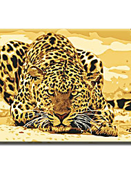 cheap -Canvas Painting Oil Painting Modern Cartoon Animals Wall Pictures Kids Room Wall Decor