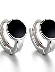 cheap -Women's Stud Earrings Earrings Ladies Punk Fashion Sterling Silver Silver Earrings Jewelry Black For Wedding Party Daily Casual Sports