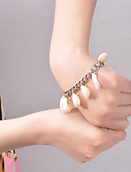 cheap -Women's Charm Bracelet Tassel Cowry Bracelet Jewelry Silver / Golden For Party Daily Casual Beach / Shell