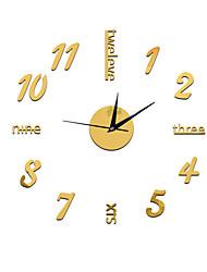 Недорогие -На каждый день / Современный современный / Офисный пластик Круглый Праздник / Домики / Духовное развитие В помещении AA Украшение Настенные часы Цифровой Нет