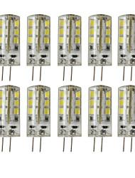 cheap -10 pcs G4 24LED SMD2835 Dimmable Decorative Corn Light DC12V White / Warm White