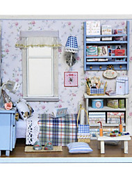 cheap -Dollhouse Pretend Play Novelty House Wood Plastic 1 pcs Toy Gift