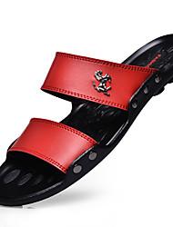 cheap -Men's Latex Summer Slippers & Flip-Flops Walking Shoes Red / Brown / Black / EU40
