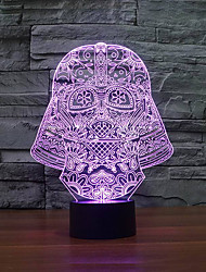 cheap -Fashion Artistic 3D Night Light Art Sculpture LED Strip as Holiday Gift Color-Changing Night Light