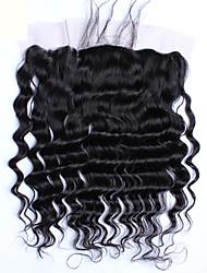 cheap -4 Bundles Brazilian Hair Loose Wave Virgin Human Hair Hair Weft with Closure Human Hair Weaves Human Hair Extensions / 10A