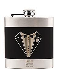 cheap -Stainless Steel Hip Flasks Groom / Groomsman / Couple Wedding / Valentine