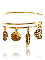 cheap -Women's Bracelet Bangles Leaf Bohemian Fashion Boho Bracelet Jewelry Golden For Daily Casual