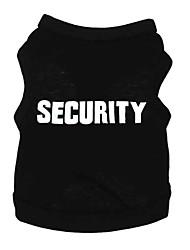 cheap -Dog Shirt / T-Shirt Dog Clothes Breathable Black Costume Large Dog Cotton Letter & Number Fashion XL XXL XXXL XXXXL XXXXXL
