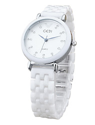 cheap -Women's Wrist Watch Quartz Charm Casual Watch Analog White Gold / Ceramic
