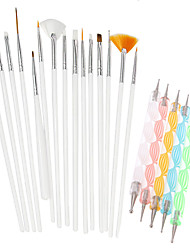 cheap -20pcs/Set Nail Kits Lovely Chic & Modern Trendy Acrylic Kit Nail Art Tool for Finger Nail Toe Nail Acrylic Brush