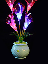 cheap -Creative Artificial Flower LED Color Changing Night Light  Light Color Randomization