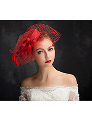 cheap -Tulle / Flax / Lace Fascinators with 1 Special Occasion / Horse Race Headpiece