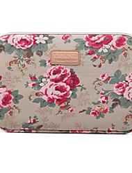 "Недорогие -14,3 ""15,6"" холст ноутбук рукава ткани цветок для MacBook / поверхности / HP / Dell / Samsung / Sony и т. Д."