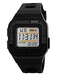 cheap -SKMEI Men's Sport Watch Digital Watch Digital Quilted PU Leather Black / Rose 30 m Water Resistant / Waterproof Alarm Calendar / date / day Digital Black Gray Rose / Chronograph / LED / Luminous