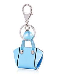 cheap -2016 Pure Blue Color Key Chain Pearl Jewelry Handbag Car Keychain Bag Women Charm Holder Key Ring