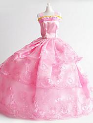 cheap -11-Inch High-End Gift Girl Princess Luxury Wedding Dress Ocean Skirt Big Pink