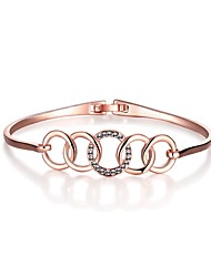 cheap -Women's Cubic Zirconia Bracelet Bangles Vintage Party Work Casual Fashion Rose Gold Bracelet Jewelry Rose Gold For Wedding Party Daily Casual / Rose Gold Plated / Gold Plated / 18K Gold
