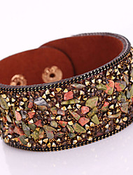 cheap -Women's Wrap Bracelet Leather Bracelet Bohemian Fashion Boho Leather Bracelet Jewelry Red / Light Brown / Dark Brown For Christmas Gifts Party Daily Casual / Rhinestone