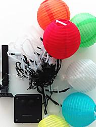 cheap -5m String Lights 20 LEDs Dip Led Warm White RGB White Waterproof 100-240 V IP44
