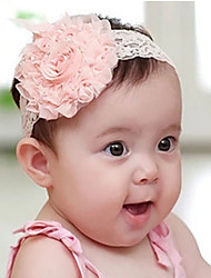 cheap -Girls' Cute Party / Daily / Holiday Flower Layered Tweed Hair Accessories White / Pink One-Size / Headbands