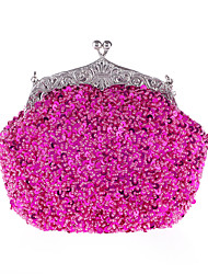 cheap -Women's Bags PU Leather Synthetics Evening Bag Cover Sequin Metallic Wedding Party Event / Party Wedding Bags Wine Black Purple Red