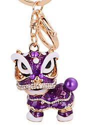 Недорогие -лев единорог кристалл эмаль миньон брелок связки ключей китайский стиль для автомобиля мешок прелестей брелок оптовой подарочные