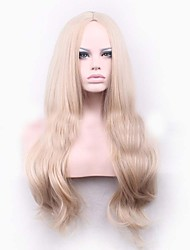 cheap -blonde long wave curls natural synthetic wigs hot selling european woman wigs