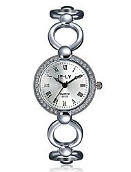 cheap -jewelora Women's Fashion Watch Dress Watch Skeleton Watch Quartz Silver Shock Resistant Analog Charm Vintage Casual Elegant - Silver