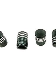 Недорогие -4 шт. Цвет алюминий автомобильные принадлежности шин клапан пылезащитный колпачок черный
