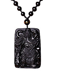 cheap -Men's Obsidian Pendant Necklace Pendant Fashion Agate Black Necklace Jewelry For Daily Casual