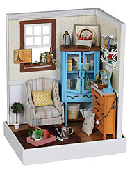 cheap -Dollhouse Pretend Play Novelty DIY Furniture House Wooden Wood Plastic 1 pcs Toy Gift