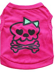 cheap -Cat Dog Costume Shirt / T-Shirt Dog Clothes Breathable Rose Costume Cotton Skull Cosplay Fashion Halloween XS S M L