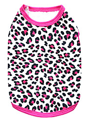 cheap -Cat Dog Shirt / T-Shirt Puppy Clothes Leopard Fashion Dog Clothes Puppy Clothes Dog Outfits Breathable Black Rose Costume for Girl and Boy Dog Cotton XS S M L