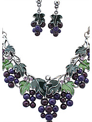 cheap -Women's Jewelry Set Choker Necklace Necklace / Earrings Ladies Vintage European Fashion Rhinestone Earrings Jewelry Assorted Color For Wedding Party Daily Casual Work