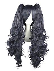 Недорогие -Косплэй парики Тёмный дворецкий Ciel Phantomhive Аниме Косплэй парики 80 См Термостойкое волокно Муж. Жен.