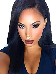 cheap -top natural black silk straight synthetic lace front wigs 100 heat resisitant synthetic hair for women in stock