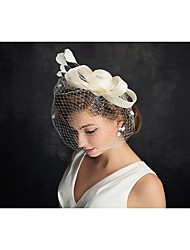 cheap -Tulle / Feather Fascinators with 1 Special Occasion / Horse Race Headpiece