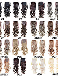 cheap -22 inch Synthetic Hair Hair Extension Curly Classic Flip In Cross Type Daily High Quality Women's