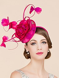 cheap -Flax / Feather Kentucky Derby Hat / Fascinators / Hats with 1 Wedding / Special Occasion / Casual Headpiece