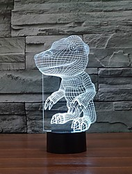 cheap -Interesting Dinosaur Shape 3D LED Night Lights Table Lamp as Children Gift Color-Changing Night Light