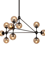 cheap -10-Light 90 cm Dimmable / LED Chandelier Metal Glass Sputnik Painted Finishes Modern Contemporary 110-120V / 220-240V