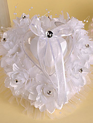 cheap -Crystal / Faux Pearl / Ribbons Satin Ring Pillow Beach Theme / Garden Theme / Asian Theme Spring / Summer / Fall