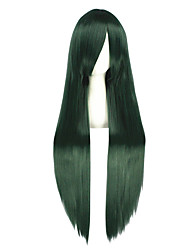 cheap -Cosplay Wigs Kagerou Project Mio Akiyama Green Long Anime Cosplay Wigs 100 CM Heat Resistant Fiber Male / Female