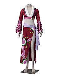 cheap -Inspired by One Piece Boa Hancock Anime Cosplay Costumes Japanese Cosplay Suits Floral Long Sleeve Coat Skirt Waist Accessory For Women's / Belt / Belt