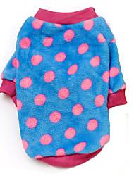 cheap -Dog Coat Sweater Dog Clothes Polka Dot Stars Brown Blue Watermelon Polar Fleece Costume For Winter