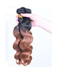 cheap -Brazilian Hair Body Wave Human Hair Ombre Hair Weaves / Hair Bulk Ombre Human Hair Weaves Human Hair Extensions / 8A