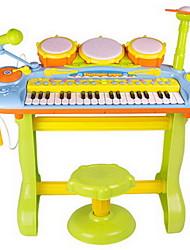 Недорогие -ou rui Барабанная установка Электронная клавиатура Игрушечные музыкальные инструменты Детские электронные пианино Пианино Пианино Барабанная установка Веселье С микрофоном пластик для Детские