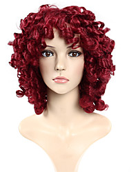 cheap -Synthetic Wig Body Wave Body Wave Wig Burgundy Synthetic Hair Women's Red
