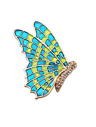 cheap -Women's Brooches Butterfly Animal Vintage Fashion Brooch Jewelry Green For Wedding Party Daily Casual